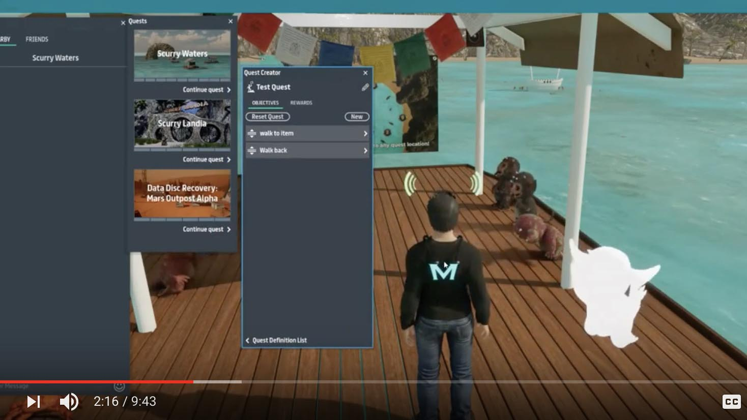 How to set up a Basic Quest in Sansar